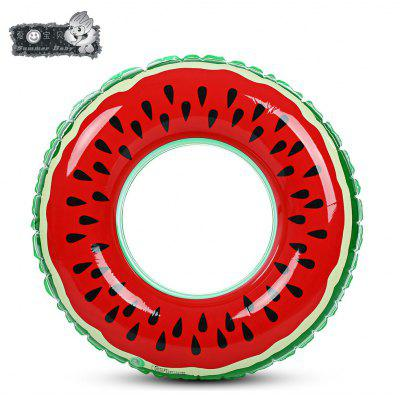 xiaribaobei Lovely Watermelon Inflatable Swimming Ring Pool Float