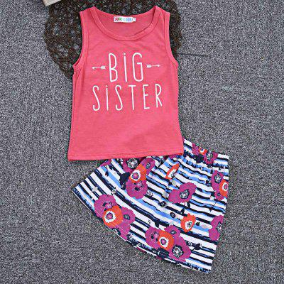 SOSOCOER Girls 2pcs Big Sister Print Tank Top Floral Stripe SkirtGirls clothing sets<br>SOSOCOER Girls 2pcs Big Sister Print Tank Top Floral Stripe Skirt<br><br>Dresses Length: Ankle-Length<br>Elasticity: Elastic<br>Embellishment: Flowers<br>Material: Cotton Blend<br>Neckline: Round Collar<br>Package Contents: 1 x Tank, 1 x Skirt<br>Pattern Type: Letter<br>Season: Summer<br>Silhouette: A-Line<br>Sleeve Length: Sleeveless<br>Style: Cute<br>Weight: 0.1350kg<br>With Belt: No
