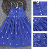 SOSOCOER Backless Anchor Print Beach Strap Dress for Girls - BLUE