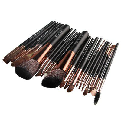 MAANGE 22pcs Foundation Blush Eyebrow Lip Makeup Brushes gujhui 15pcs wooden foundation makeup brushes sets