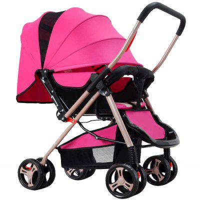 Four-wheel Foldable Pram Baby Stroller