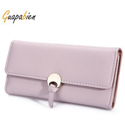 Guapabien Stylish Snap Fastener Clutch Wallet for Women