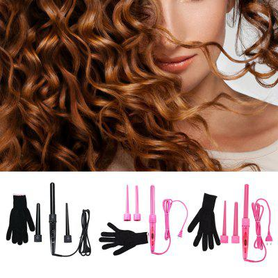 Professional Curling Wand Interchangeable 3 Parts Clip Iron Hair Curler Set ckeyin professional hair waver wave curler ceramic hair curling iron 3 barrel roller curler curling wand hair styling tools hs46
