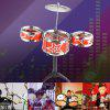 Jazz Rock Drums Set Giocattolo Musical Instrument - ROSSO