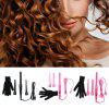 Professional Curling Wand Interchangeable 3 Parts Clip Iron Hair Curler Set - BLACK