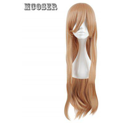 Mcoser Charming Braided Long Straight Side Bang Cosplay Wig