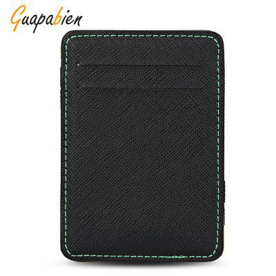 Guapabien Casual Style PU Card Holder Money Clip for Men