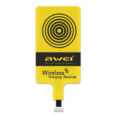 Awei Qi Wireless Charging Receiver for iPhone 7 Plus / 7Chargers &amp; Cables<br>Awei Qi Wireless Charging Receiver for iPhone 7 Plus / 7<br><br>Package Contents: 1 x Wireless Charging Receiver<br>Package Size(L x W x H): 14.80 x 6.50 x 1.00 cm / 5.83 x 2.56 x 0.39 inches<br>Package weight: 0.0380 kg<br>Product Size(L x W x H): 10.10 x 4.30 x 0.10 cm / 3.98 x 1.69 x 0.04 inches<br>Product weight: 0.0060 kg