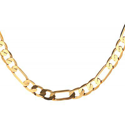 Buy GOLDEN 8mm 24K Plated Gold Color Figaro Chain Men Necklace for $9.43 in GearBest store
