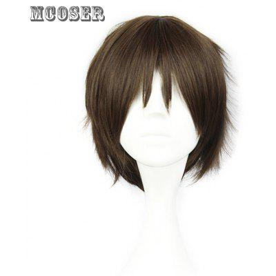 Mcoser Shaggy Short Straight Middle Bang Layered Anime Wig