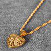 Fashionable Gold Plated Hollow Out Heart Pendant Necklace for Women - GOLDEN