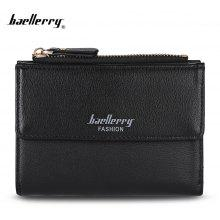 Baellerry Stylish PU Leather Short Wallet Coin Purse for Women