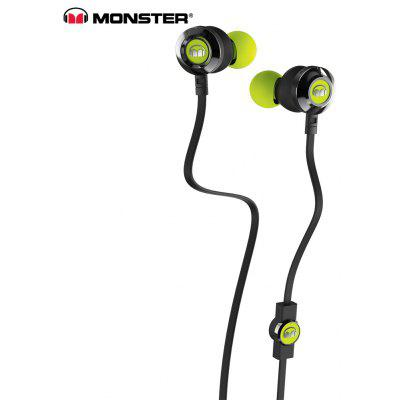 Buy NEON GREEN Monster Clarity HD 3.5MM Stereo Wired Earbuds with Mic for $39.13 in GearBest store