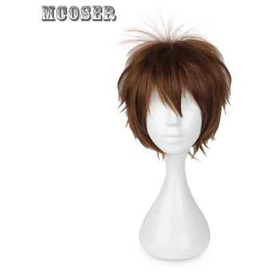 Mcoser Shaggy Middle Bang Short Straight Layered Anime Wig