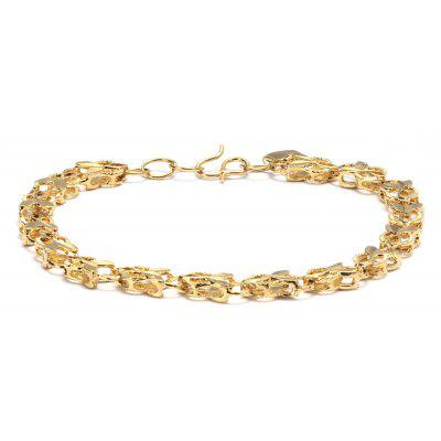 Buy GOLDEN 24K Plated Gold Color Little Goldfish Chain Women Bracelet for $4.47 in GearBest store
