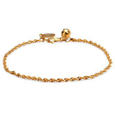 Buy GOLDEN 24K Plated Gold Color Simple Twisted Chain Women Bracelet for $3.76 in GearBest store