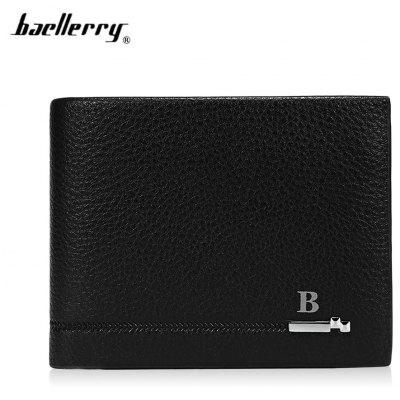 Baellerry Soft PU Leather Card Holder Short Wallet for Men