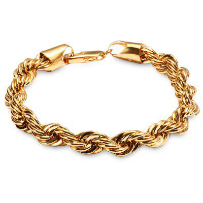 Stylish 24k plated gold color rope chain bracelet for men 1071 stylish 24k plated gold color rope chain bracelet for men sciox Gallery