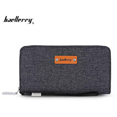Baellerry Stylish Multifunction Canvas Clutch Wallet for Men
