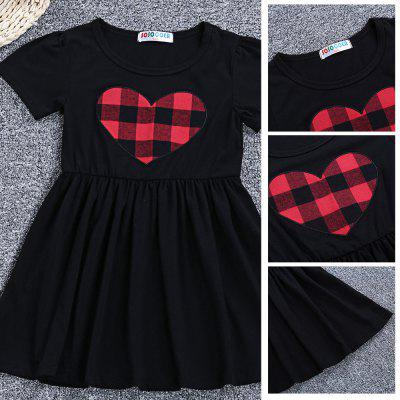SOSOCOER Short Sleeve Heart Plaid Prin Sweet Dress for GirlsGirls dresses<br>SOSOCOER Short Sleeve Heart Plaid Prin Sweet Dress for Girls<br><br>Dresses Length: Ankle-Length<br>Elasticity: Elastic<br>Material: Cotton Blend<br>Neckline: Round Collar<br>Package Contents: 1 x Dress<br>Pattern Type: Plaid<br>Season: Summer<br>Silhouette: Beach<br>Sleeve Length: Short Sleeves<br>Style: Cute<br>Waist: Natural<br>Weight: 0.1420kg<br>With Belt: No