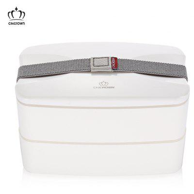 CNCROWN 20102 Plastic Bento Lunch Box 2-layer Food Storage Container
