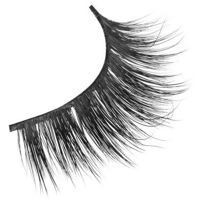 Pair of Cosmetic Natural Long Cross Beauty Dense False Eyelashes