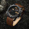 NAVIFORCE NF9095M Men Dual Movt Watch - BROWN