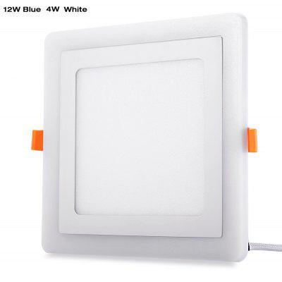 Square LED Blue White Panel Light