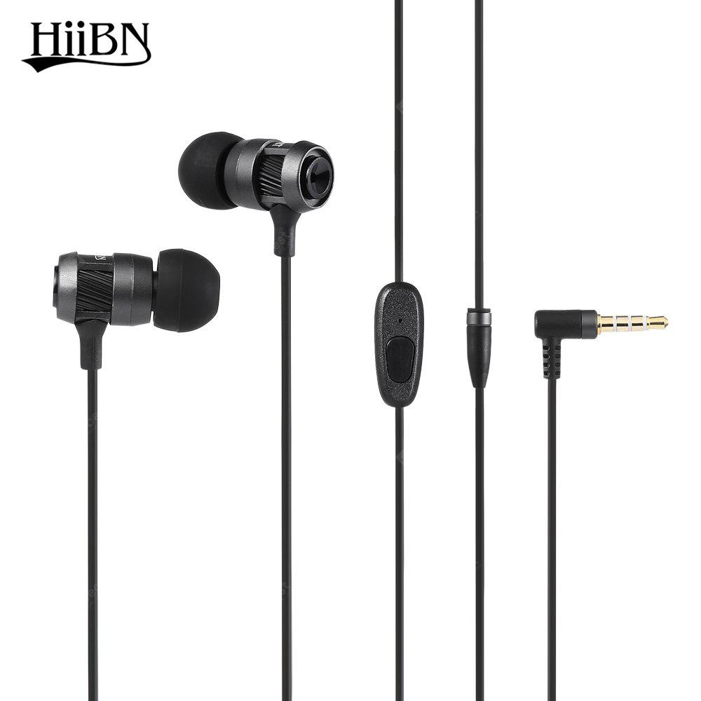 IRON GREY HIIBN HI400 3.5MM Rock Bass Stereo In-ear Music Earbuds