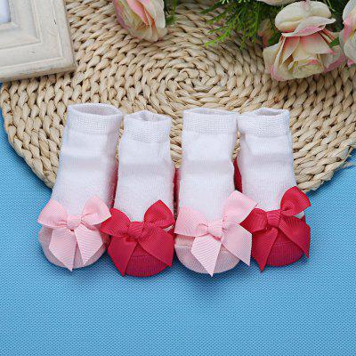 Sweet Bowknot Design Warm Soft Knited Baby Girls Socks от GearBest.com INT