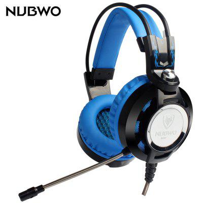 Buy BLUE NUBWO K6 Stereo Over Ear Gaming Headset with Mic LED for $18.93 in GearBest store