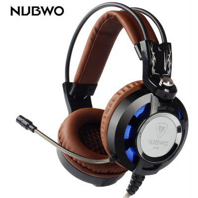 Buy BLACK AND BROWN NUBWO K6 Stereo Over Ear Gaming Headset with Mic LED for $19.16 in GearBest store