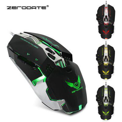 ZERODATE X800 Wired Gaming Mouse con luce a LED