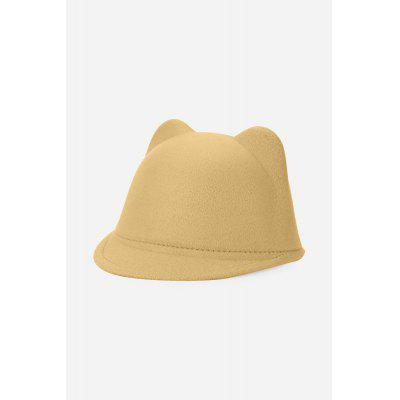 Cat Ear Design Pure Color Unisex Top Hat