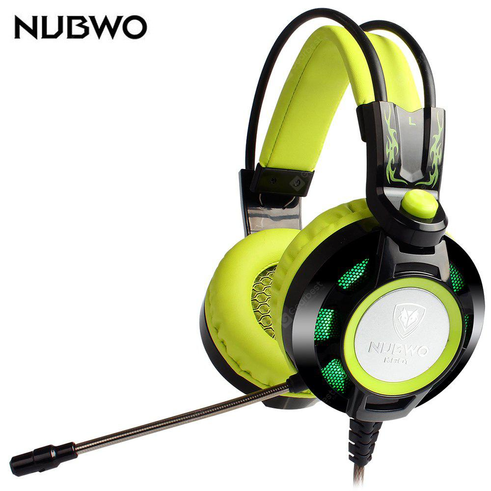 GREEN NUBWO K6 Stereo Over Ear Gaming Headset with Mic LED