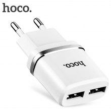 HOCO C12 Dual USB 2.4A Output Intelligent Wall Travel Charger