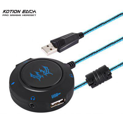 KOTION EACH S2 Plug and Play External USB Sound Card