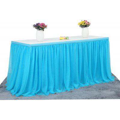 Tutu Tulle Table Skirt for Party Wedding Home Decoration