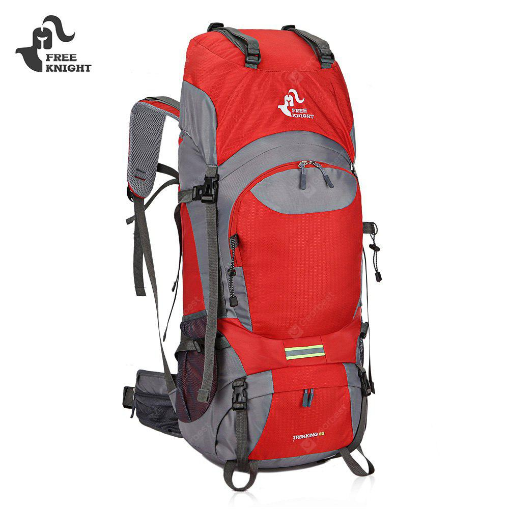 RED FREEKNIGHT 0399 60L Water Resistant Climbing Backpack
