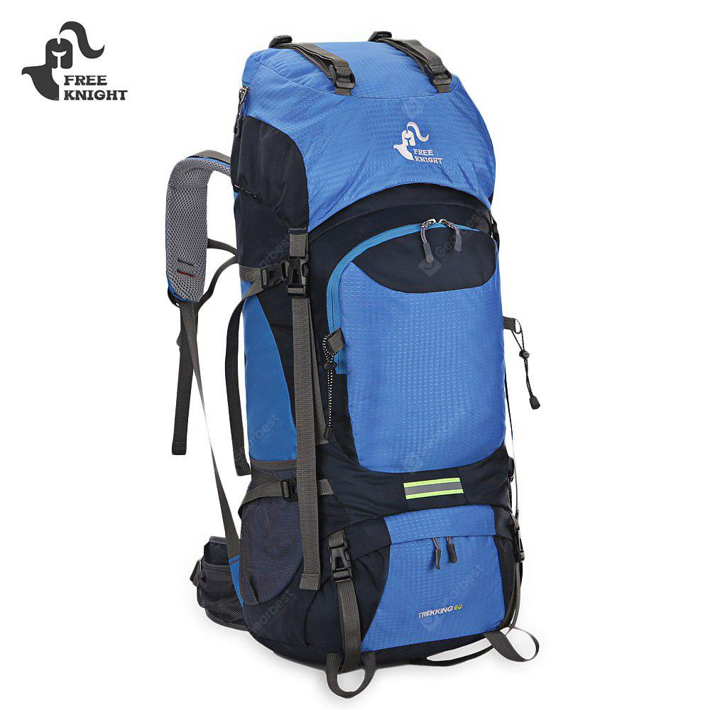 BLUE FREEKNIGHT 0399 60L Water Resistant Climbing Backpack