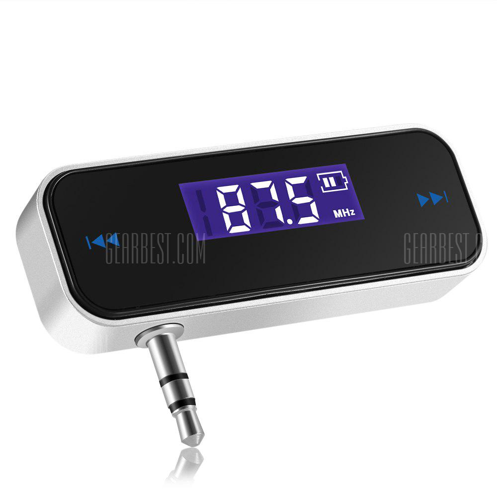 AutoLover Wireless 3.5mm FM Transmitter with LCD Display