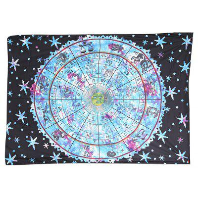 200 x 148cm Mysterious Constellation Printed Tapestry Beach Yoga Towel