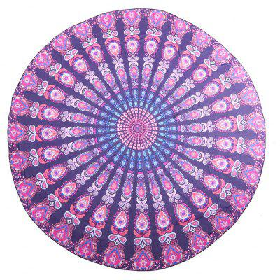 Buy COLORMIX 148x 148cm Round Tapestry Bohemian Beach Yoga Towel Mat for $8.94 in GearBest store