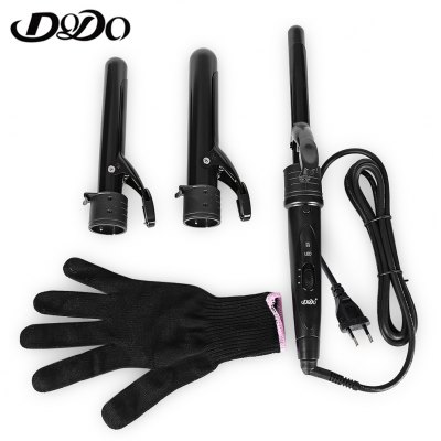 DODO 2819 Interchangeable 3 Parts Clip-less Iron Hair Curler