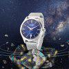 Angie ST7206M Auto Mechanical Men Luminous Watch - SILVER AND BLUE