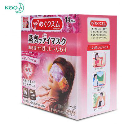 KAO 14 Pads Rose Essential Fragrance Steam Eye Mask