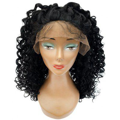 Women Curly Long Hair Lace Front Synthetic Heat Resistant Wig