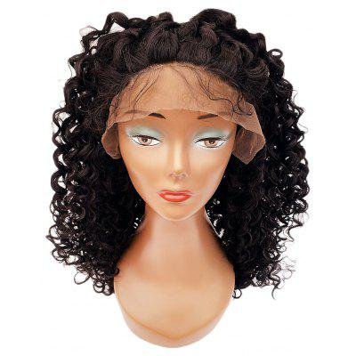 Women Long Curly Hair Lace Front Synthetic Heat Resistant Wig