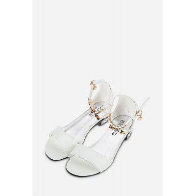 Metal Strap Open Toe Ladies Flat Sandals