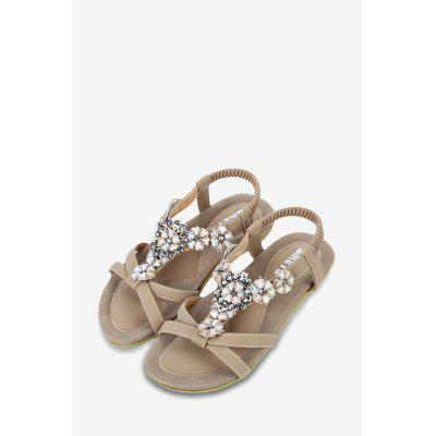 SIKETU Bohemia Beads Elastic Band Women Sandals